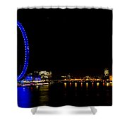 Millenium Wheel And London Night View  Shower Curtain