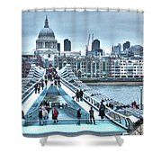 Millennium Bridge And St Paul's Cathedral Shower Curtain