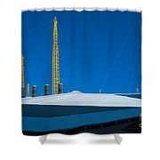 Millennium Dome Abstract Shower Curtain