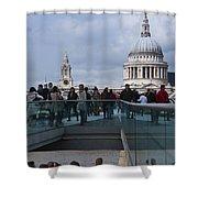 Millennium Footbridge Shower Curtain