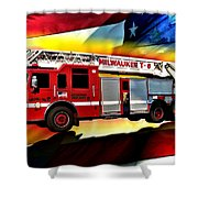 Milwaukee Truck 6 Shower Curtain