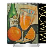 Mimosa Poster Shower Curtain
