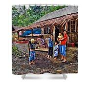 Minahasa Traditional Home 3 Shower Curtain