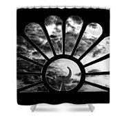 Minaret Through Glass Shower Curtain