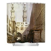 Minarets And Grand Entrance Of The Metwaleys At Cairo Shower Curtain