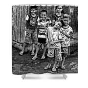 Minehasa Expressions Bw Shower Curtain