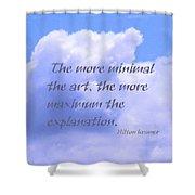 Minimal Art Shower Curtain