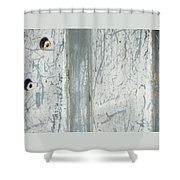 Minimalism With Two Bolts Shower Curtain