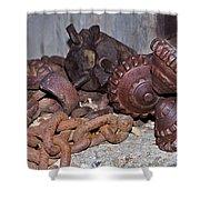 Mining Drill Bit Shower Curtain