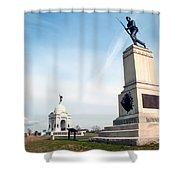 Minnesota Monument At Gettysburg Shower Curtain
