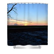 Minnesota Sunset 15 Shower Curtain