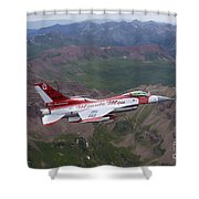 Minute Men Paint Scheme On An F-16 Shower Curtain