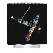 Mir Space Station Shower Curtain