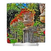 Mirabell Gardens In Salzburg Hdr Shower Curtain by Mary Machare