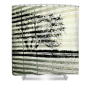 Mirages Wind Shower Curtain by Empty Wall