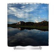 Mirror At Theshore Shower Curtain