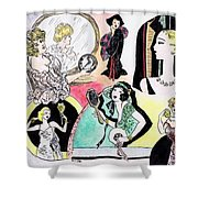 Mirror Ladies Shower Curtain