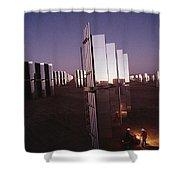 Mirror-winged Solar Panels Convert Shower Curtain