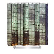 Mirrored Building Shower Curtain