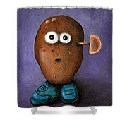 Misfit Potato Head 3 Shower Curtain
