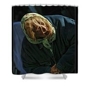 Miss Crab Apple Shower Curtain