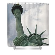 Miss Statue Of Liberty Shower Curtain