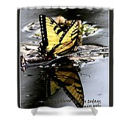 Missing You - Butterfly Shower Curtain