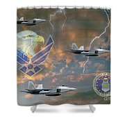 Mission First  Shower Curtain