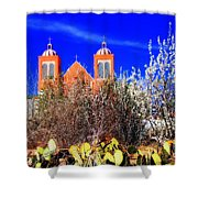 Mission In Silver City Nm Shower Curtain