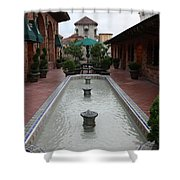 Mission Inn Roof Top Pond Shower Curtain