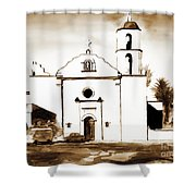 Mission San Luis Rey In Sepia Shower Curtain by Kip DeVore