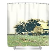 Mississippi Farm Old Highway 61  Shower Curtain