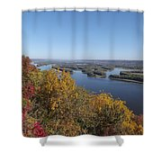 Mississippi River Fall Shower Curtain
