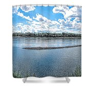 Mississippi River Panorama Shower Curtain