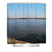 Mississippi River View Shower Curtain