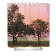 Mist Morning Sunrise Shower Curtain