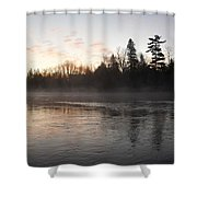 Mist Over The Mississippi Shower Curtain