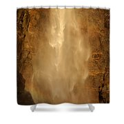 Mist Over The Rocks Shower Curtain