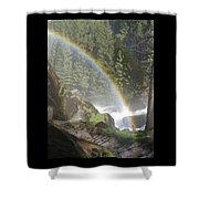 Mist Trail Rainbow Shower Curtain