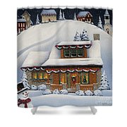 Mistletoe Cottage Shower Curtain