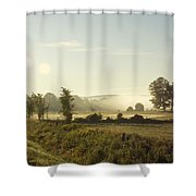 Misty Lines Shower Curtain