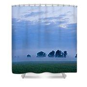 Misty Marsh Shower Curtain