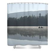 Misty Morning Fishing Shower Curtain