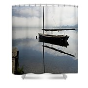 Misty Morning On Lake Bohinj Shower Curtain