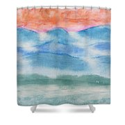 Misty Morning On Blue Hills Shower Curtain