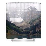 Misty Paddle - Lake Louise, Alberta Shower Curtain