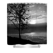 Misty Reflections Bw Shower Curtain