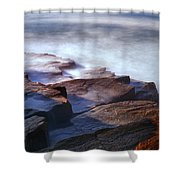 Misty Tide At Monument Cove Shower Curtain