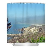 Misty View From Nobska Point - Woods Hole Ma Shower Curtain