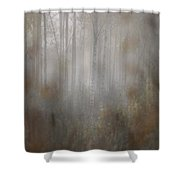 Misty Woods In Autumn Shower Curtain